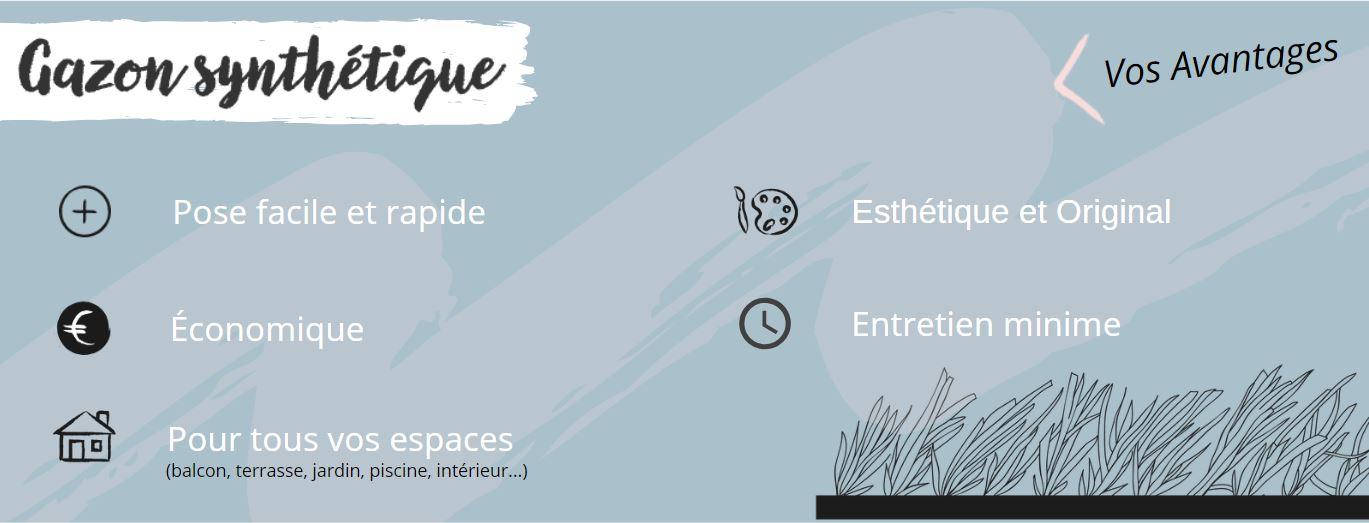 Infographie - Gazon synthétique