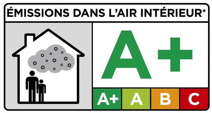 Emissions dans l'air intérieur A+