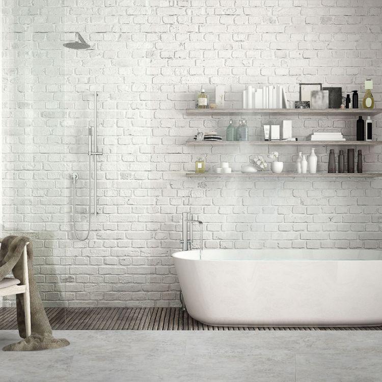 """Contesse Rigicore 5.5 Click Stone XL """"Aquarel White Tile"""""""